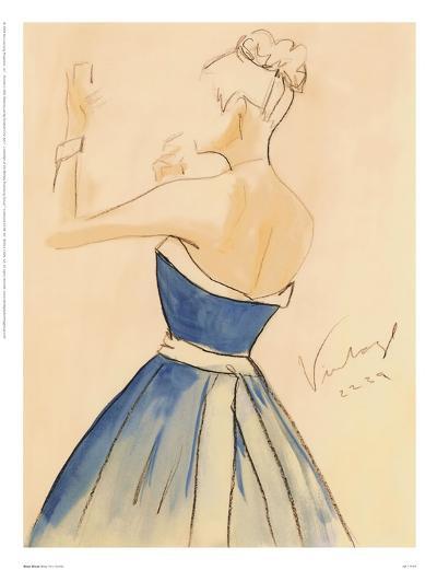 Blue Dress II-Tara Gamel-Art Print