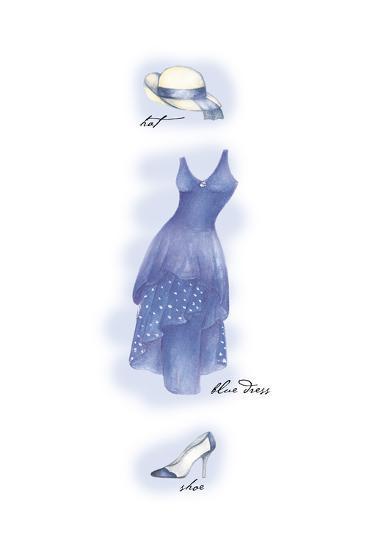Blue Dress-Maria Trad-Premium Giclee Print