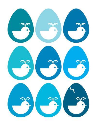 Blue Egg Hatching-Avalisa-Art Print