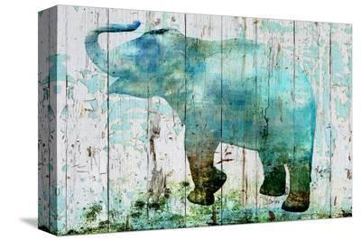 Blue Elephant--Stretched Canvas Print