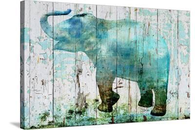Blue Elephant--Stretched Canvas Print