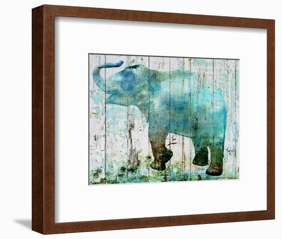 Blue Elephant-Irena Orlov-Framed Art Print