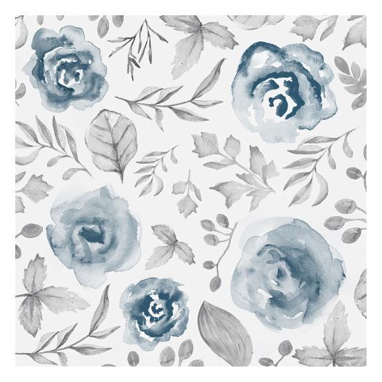 Blue Fade Foliage-Alicia Vidal-Art Print