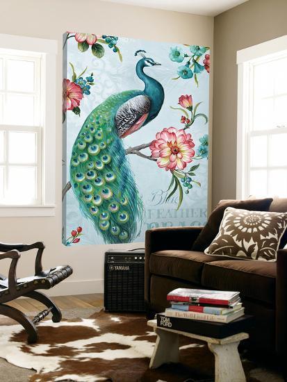 Blue Feathered Peacock I-Lisa Audit-Loft Art