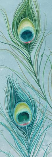 Blue Feathered Peacock VI-Lisa Audit-Premium Giclee Print