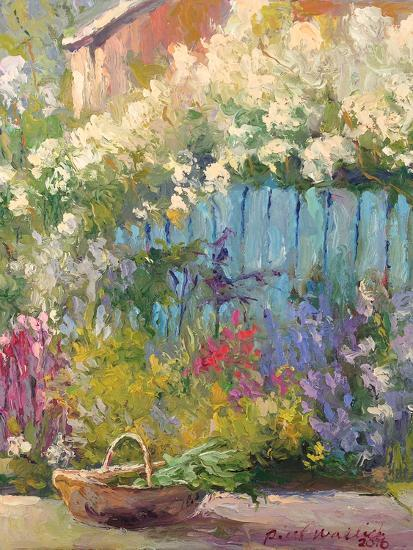 Blue Fence-Richard Wallich-Art Print