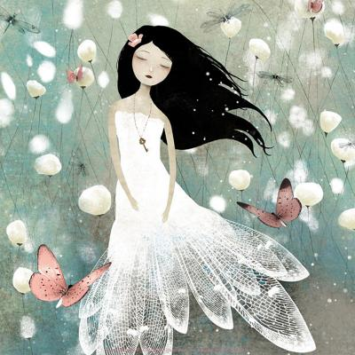 Blue Field Memories-Anne-julie Aubry-Art Print