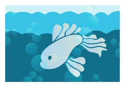 Blue fish--Giclee Print
