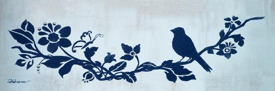 Blue Floral and Bird I-Tiffany Hakimipour-Premium Giclee Print
