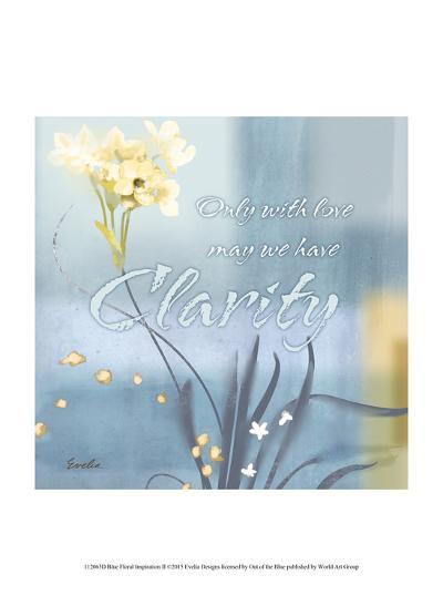 Blue Floral Inspiration II-Evelia Designs-Art Print