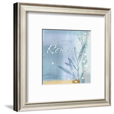 Blue Floral Inspiration VII-Evelia Designs-Framed Art Print