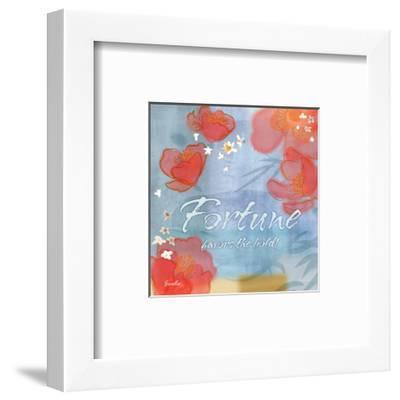 Blue Floral Inspiration X-Evelia Designs-Framed Art Print