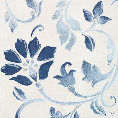 Blue Floral Shimmer I-Tiffany Hakimipour-Premium Giclee Print