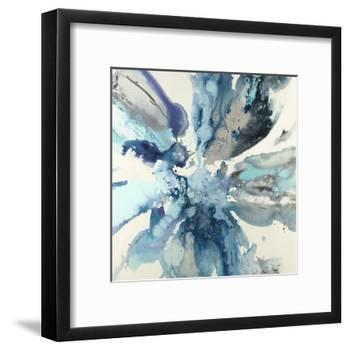 Blue Flower Explosion-Randy Hibberd-Framed Art Print