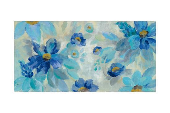 Blue Flowers Whisper I-Silvia Vassileva-Art Print