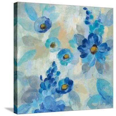 Blue Flowers Whisper III-Silvia Vassileva-Stretched Canvas Print