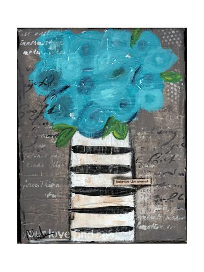 Blue Flowers-Cassandra Cushman-Art Print