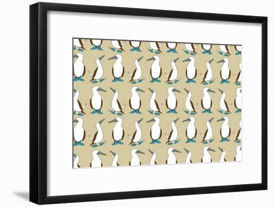 Blue Footed Booby-Joanne Paynter Design-Framed Giclee Print