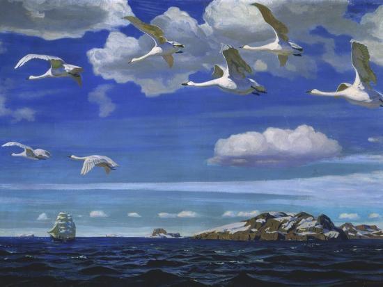 Blue Freedom, 1918-Arkadi Rylow-Giclee Print