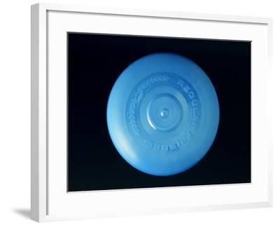 Blue Frisbee--Framed Photographic Print