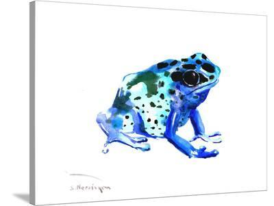 Blue Frog-Suren Nersisyan-Stretched Canvas Print