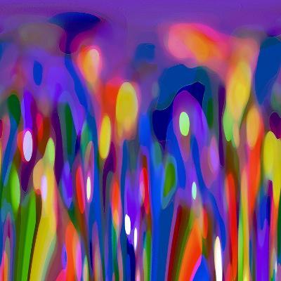Blue Fusion-Ruth Palmer-Art Print