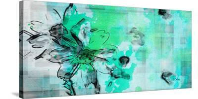 Blue Garden--Stretched Canvas Print