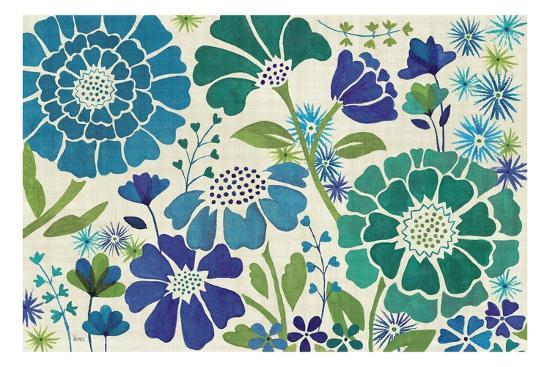 Blue Garden-Veronique Charron-Premium Giclee Print