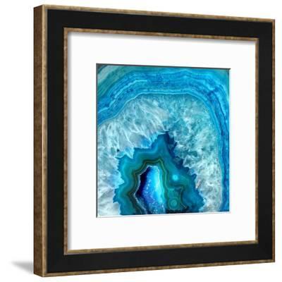 Blue Geo 2-Kimberly Allen-Framed Art Print