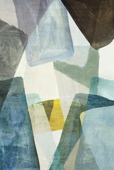 Blue Geometric II-PI Studio-Art Print