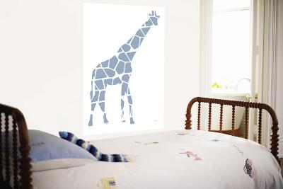 Blue Giraffe-Avalisa-Wall Mural