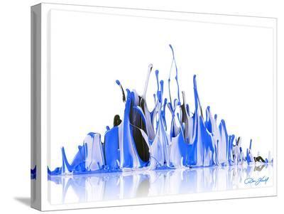 Blue Glacier-Don Farrall-Stretched Canvas Print