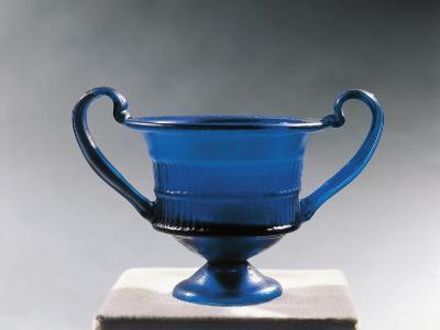Blue Glass Bowl--Giclee Print