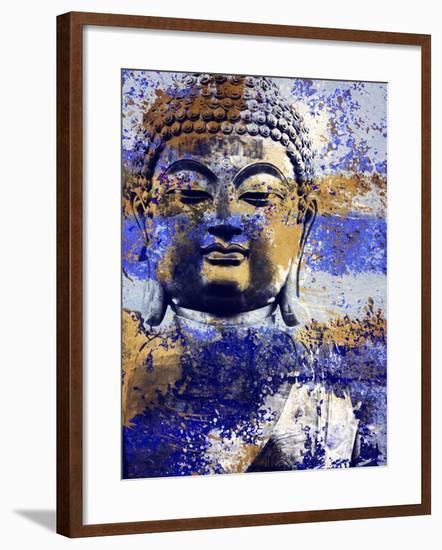 Blue Gold Prayer-Milli Villa-Framed Art Print