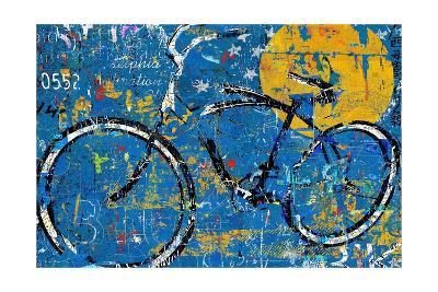 Blue Graffiti Bike-Daryl Thetford-Art Print