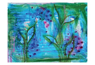 Blue Grapes I-Pam Varacek-Art Print