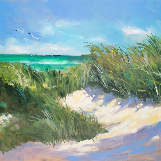 Blue Grass Breeze I-Jane Slivka-Premium Giclee Print