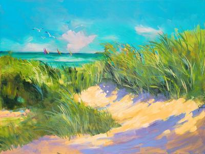 Blue Grass Breeze I-Jane Slivka-Premium Giclee Print