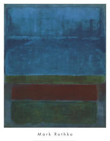 Blue, Green, and Brown-Mark Rothko-Art Print