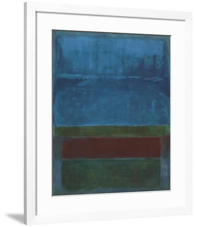 Blue, Green, and Brown-Mark Rothko-Framed Art Print