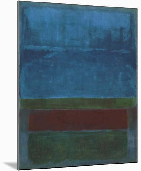 Blue, Green, and Brown-Mark Rothko-Mounted Art Print
