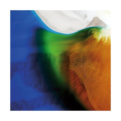 Blue, Green, and Orange Flow, c.2008-Pier Mahieu-Premium Giclee Print