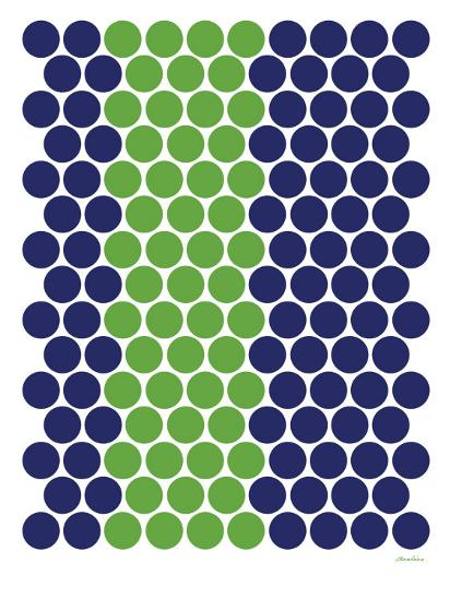 Blue Green Dots-Avalisa-Art Print