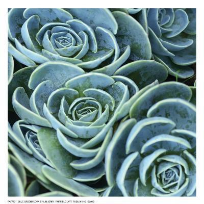 Blue Green Flora-linjerry-Art Print