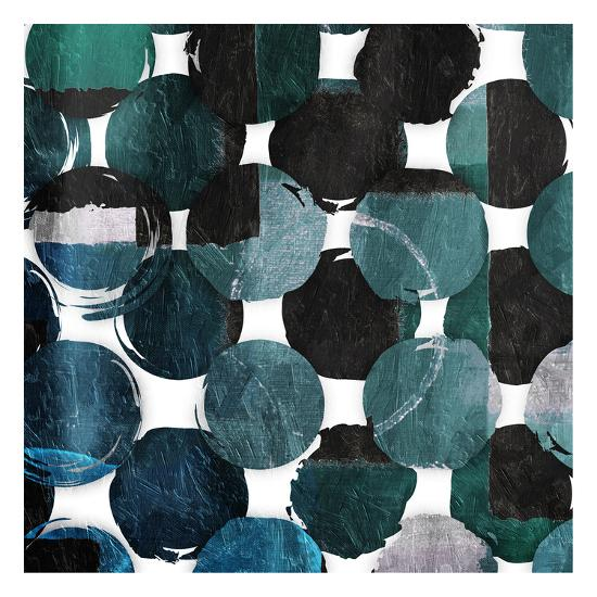 Blue Green Mayhem-Jace Grey-Art Print