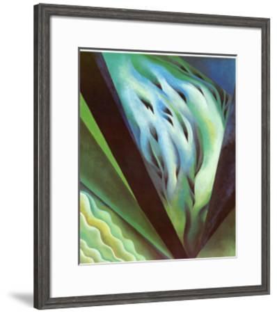 Blue Green Music-Georgia O'Keeffe-Framed Art Print