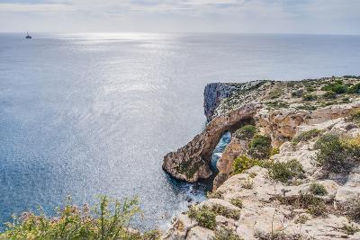 Blue Grotto on the Southern Coast of Malta.-Anibal Trejo-Photographic Print