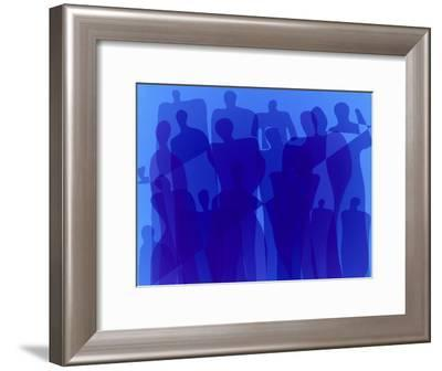 Blue Group-Diana Ong-Framed Giclee Print