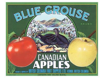 Blue Grouse Canadian Apples--Art Print