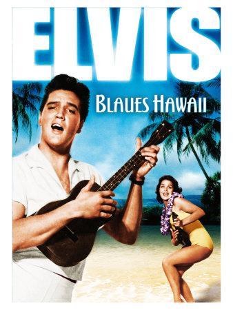 blue hawaii german movie poster 1961 art print by. Black Bedroom Furniture Sets. Home Design Ideas